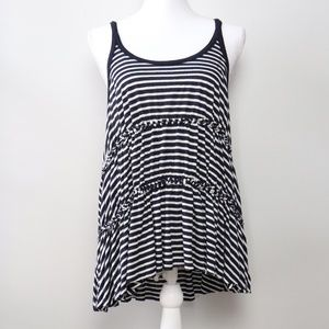 We The Free Blue/White Striped Tank Top | Size M